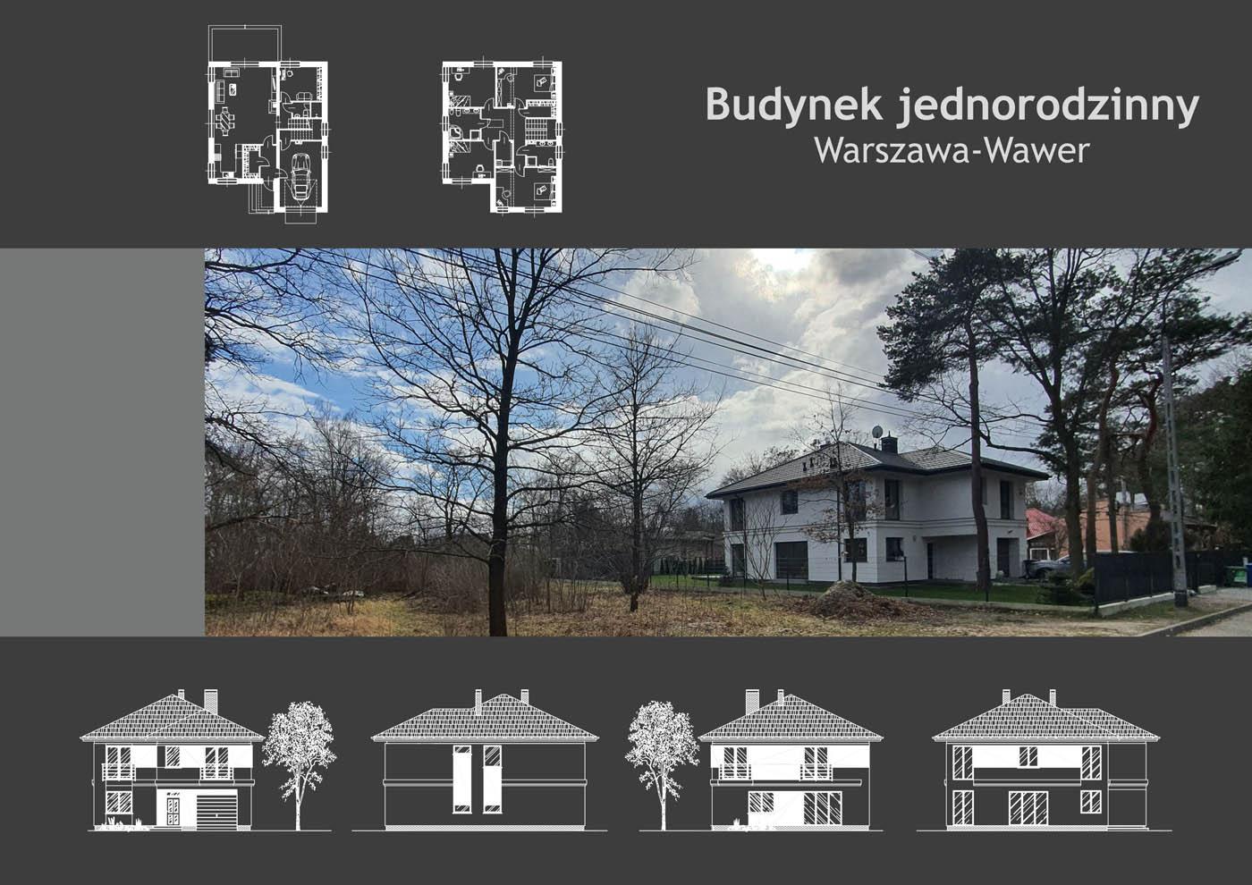 Budynek jednorodzinny Warszawa-Wawer