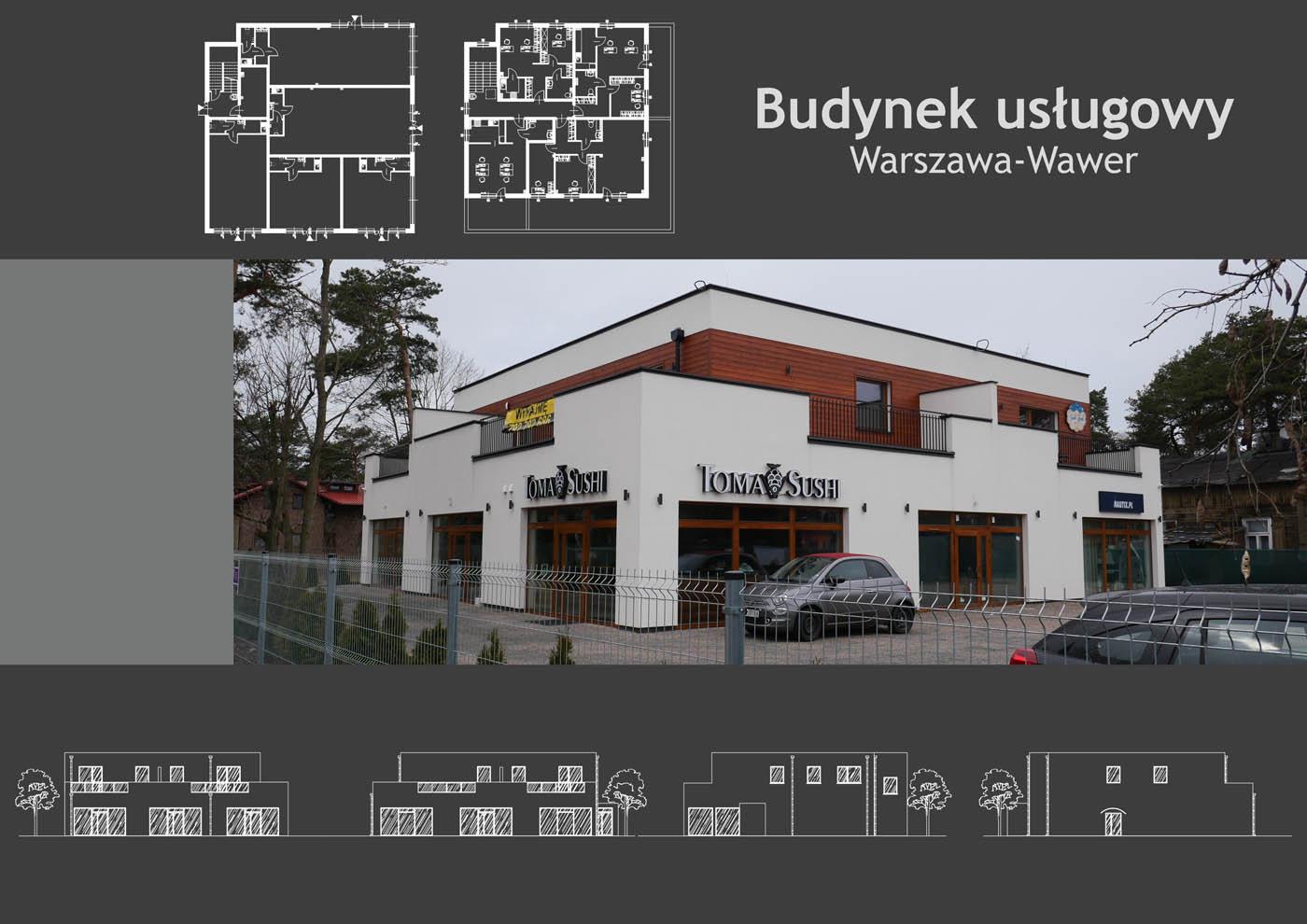 Budynek usługowy Warszawa-Wawer