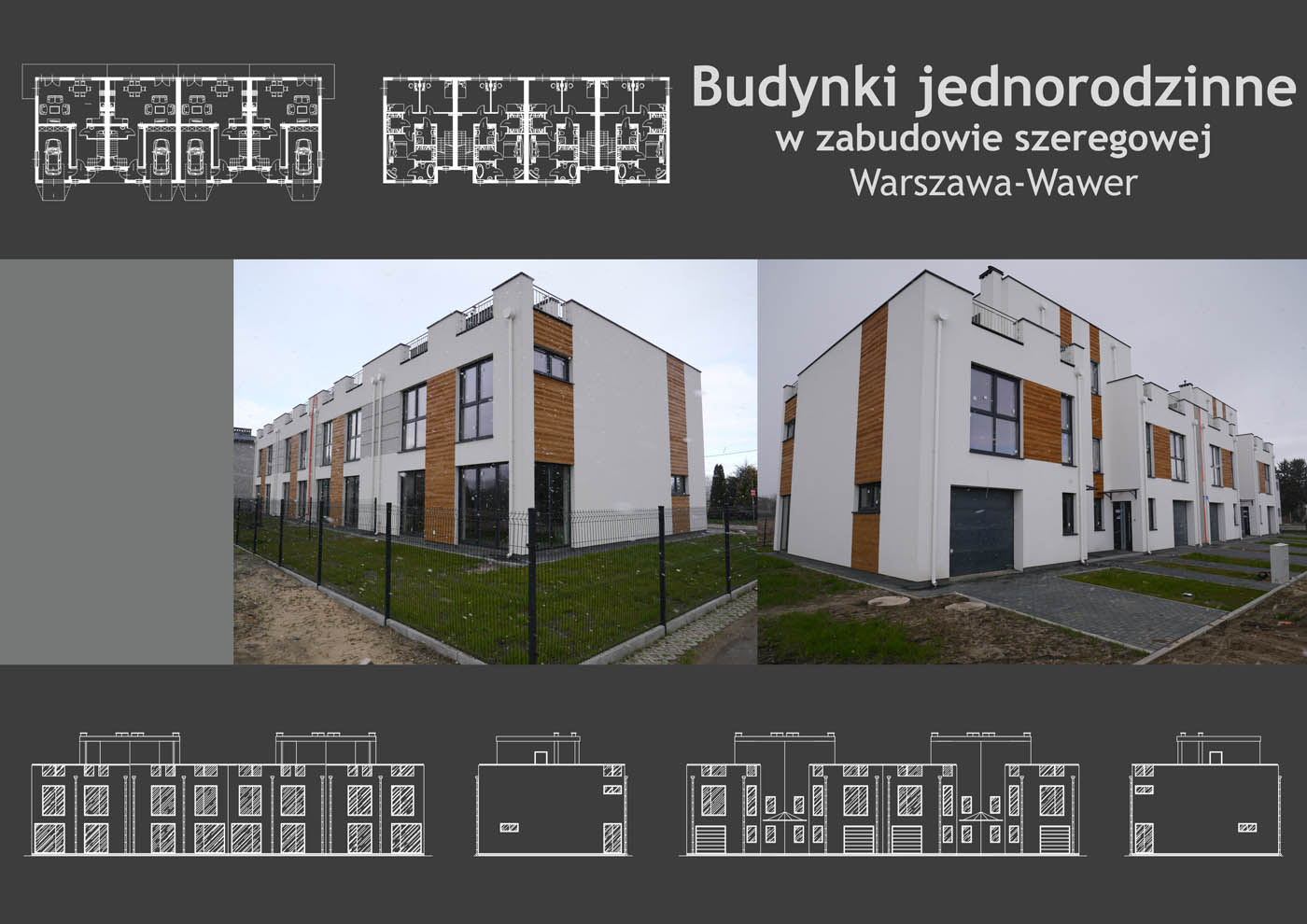 Budynki jednorodzinne w zabudowie szeregowej Warszawa-Wawer